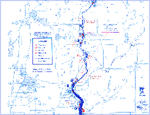 Lower St. Croix River map