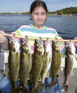 Elizabeth with walleye lineup