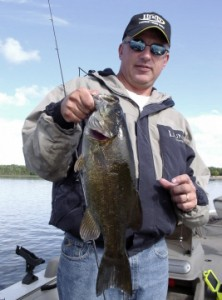 Doug Reising and 21 inch smallmouth